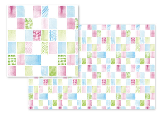 fabric - Preppy Watercolor Blocks by Mary Kate Lucas