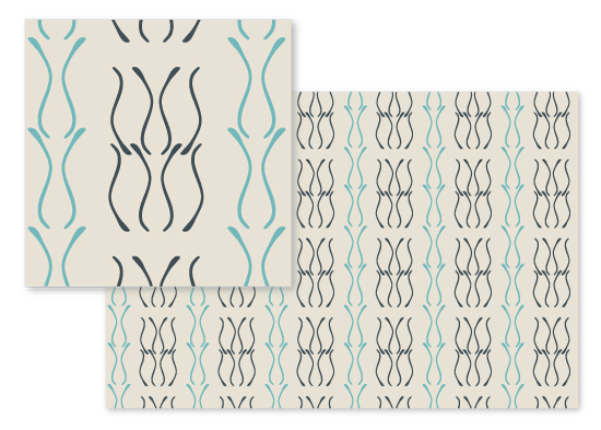 fabric - Flowing Lines by Arezo Design Studio