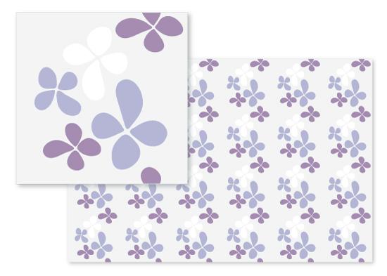 fabric - Flowing Petals by Arezo Design Studio