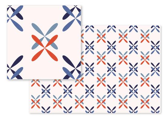 fabric - Criss-crossed by Arezo Design Studio
