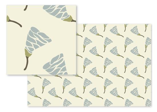 fabric - Modern Flower by Arezo Design Studio