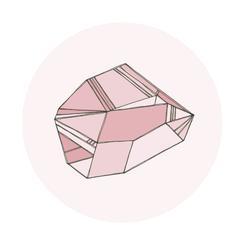 Pastel Gem Birthstone – January - Garnet