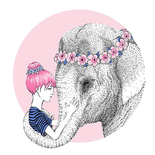 art prints - Because love by Lina Che