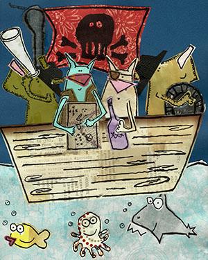 art prints - pirates by erin mcgill