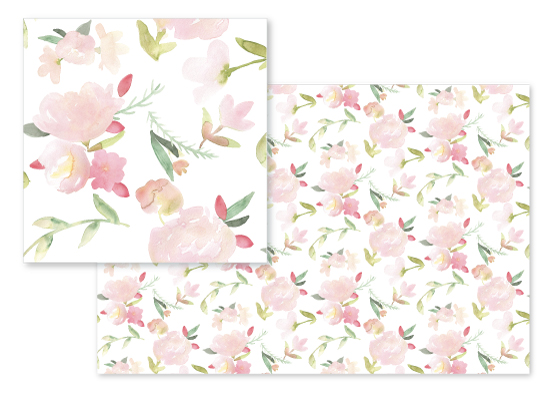 fabric - Sorbet Peonies (trifecta) by Noonday Design