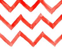 Tomato Red Chevron Stri... by SherbetPaperCo