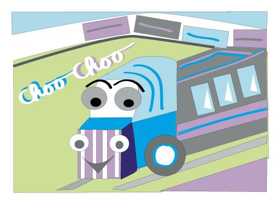 art prints - Friendly Choo Choo Train for Kids by Kristen Niedzielski