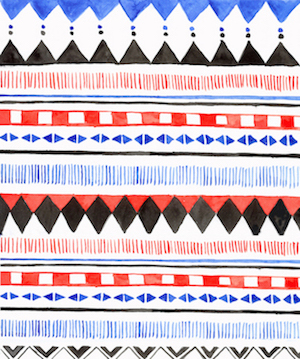 fabric - Aztec by SherbetPaperCo