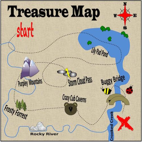 art prints - Treasure Map Mahan by SHELLEY COOK