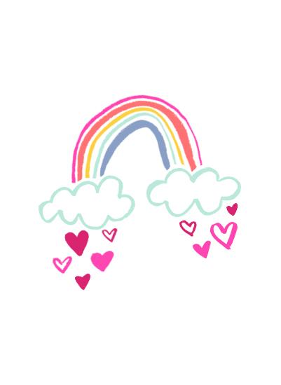 art prints - Rainbow Love by Parrott Design Studio