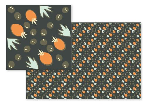 fabric - Mango Café by Catilustre