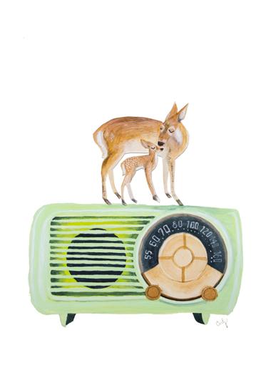 art prints - Radio Deer by Megan Carty