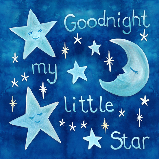 art prints - Goodnight My Little Star by Gabrielle Cave
