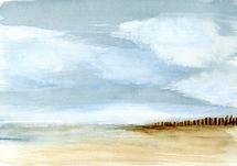 Empty Beach by anna hammer
