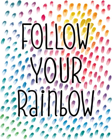 art prints - Follow Your Rainbow by Gabrielle Cave