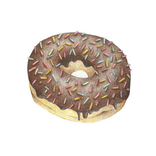 art prints - Donut Forget Breakfast by Claire Womack