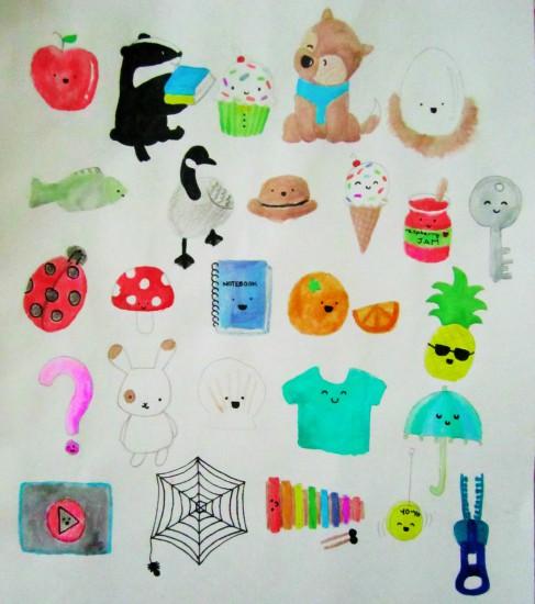 art prints - PictoAlphabet by Grace Z
