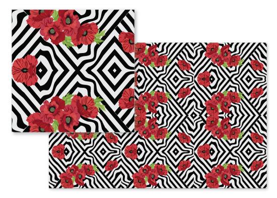 fabric - Floral Frenzy by Aubrey Troutman