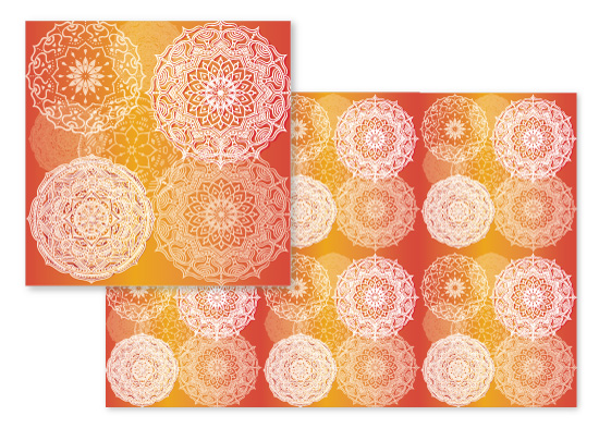fabric - Sunrise Mandalas by Aubrey Troutman