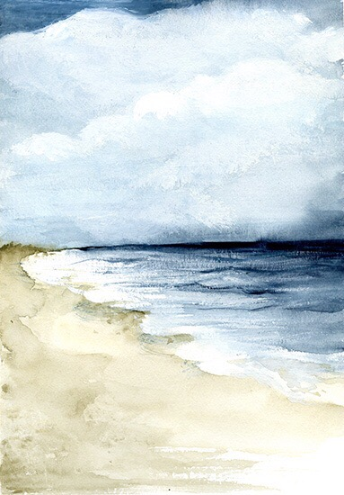 art prints - Sandy Shore by anna hammer