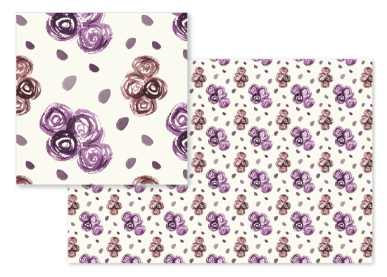 fabric - RoseClusters by Arezo Design Studio