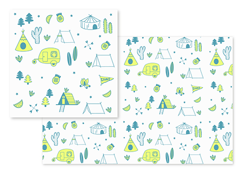 fabric - Glamping by Marina Prints_design studio