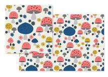 happy mushrooms by Marina Prints_design studio