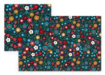 Folk Flowers by Marina Prints_design studio