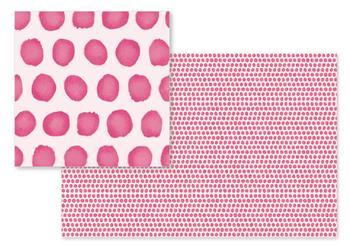 Watercolor dabs polka dot