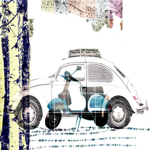 art prints - Let's go to place by Pascale cerdan