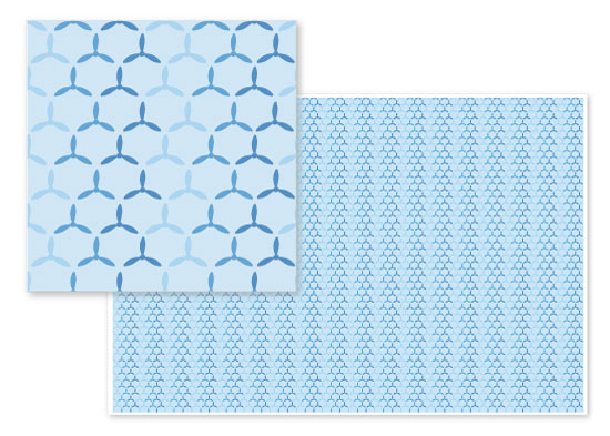 fabric - Sea of Windmills by Orange Poppy Designs