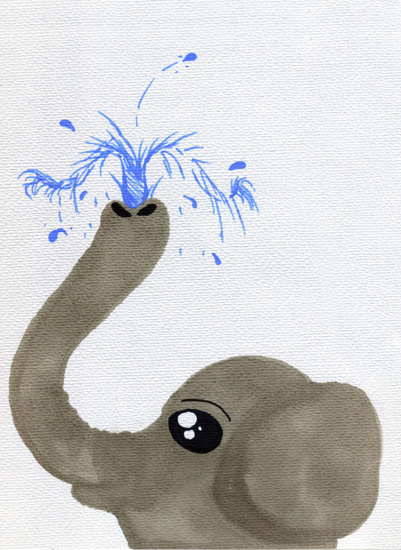 art prints - Baby Elephant by Heather Fuller