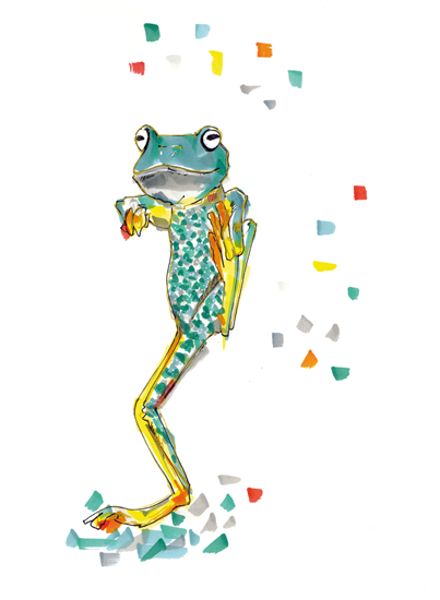 art prints - KungFu Froggy by gukuuki