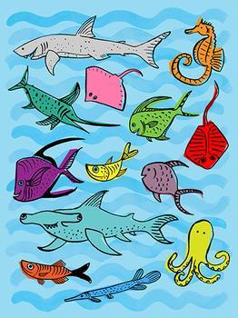 Sea Creatures In Color