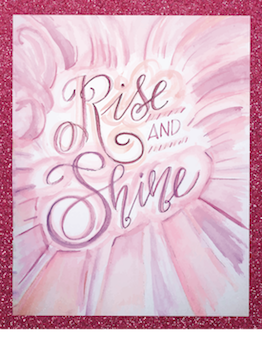 art prints - Rise & Shine watercolor by Kendra Stanton Lee