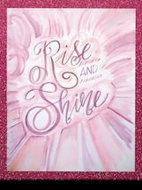 Rise & Shine watercolor by Kendra Stanton Lee