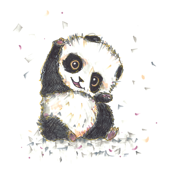 art prints - Whimsy Panda by gukuuki