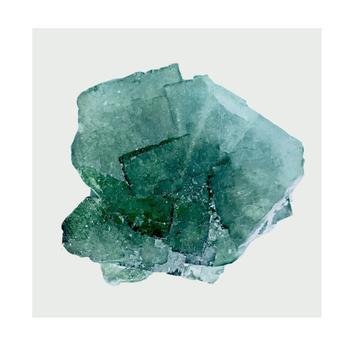teal beach glass