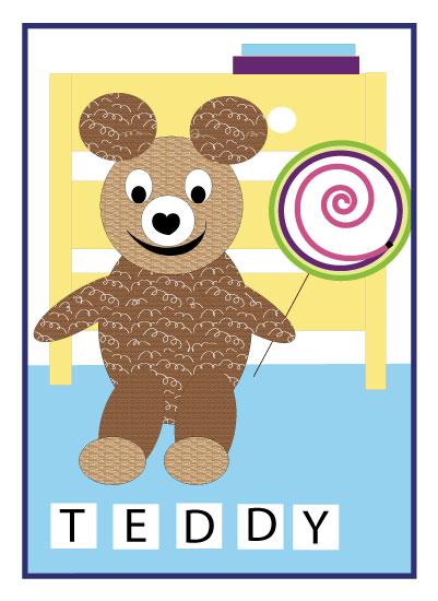 art prints - Happy and Sweet Teddy by Kristen Niedzielski
