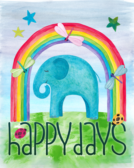 art prints - Happy Days by Gabrielle Cave