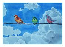 Three little Tweeters by Cathleen Earle