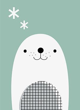 art prints - Polar Artic-Seal by Marina Prints_design studio