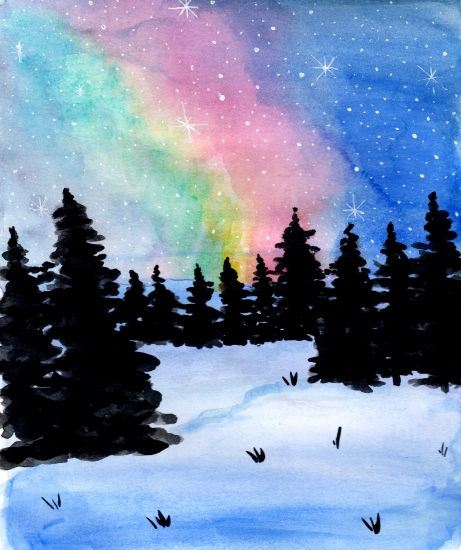 art prints - Northern Lights by Kristina Heredia