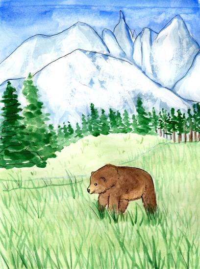 art prints - Bear Necessities by Kristina Heredia