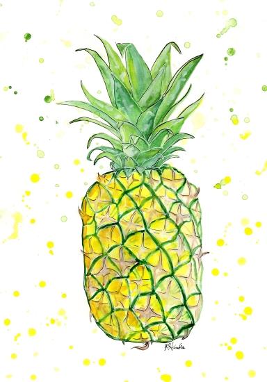art prints - Pineapple Splash by Kristina Heredia