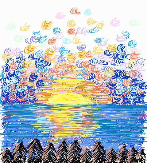 art prints - Sunrise Clouds by Christina DeHayes