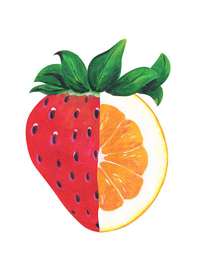art prints - Strawberry Orange by Emily Cellini Henson