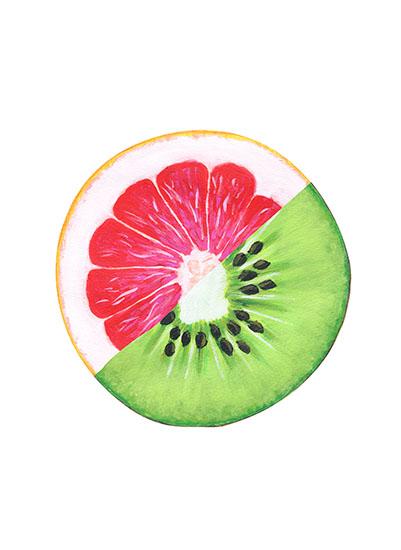 art prints - Grapefruit Kiwi by Emily Cellini Henson