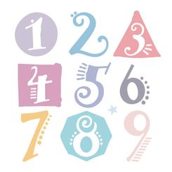 Whimsical Number Shapes