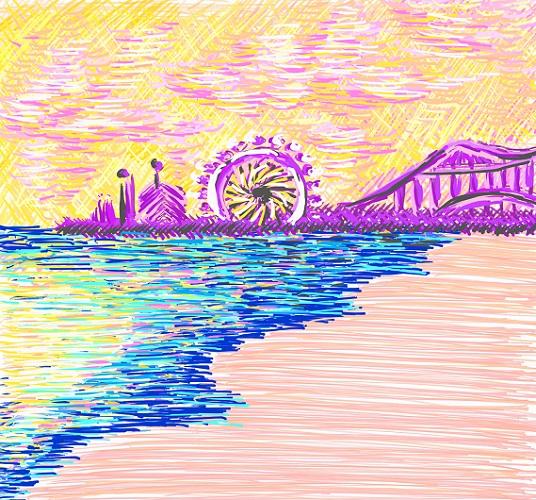 art prints - Santa Monica Pier by Christina DeHayes
